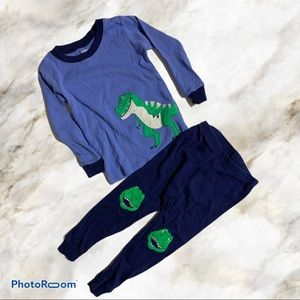 Carters Smiling Dinosaur Pajama Outfit Long Sleeve